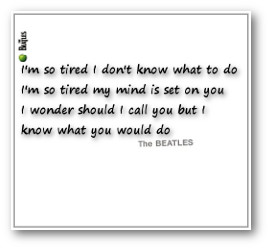 I'm So Tired (1968)